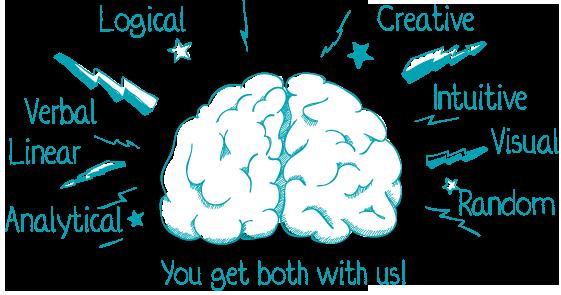 Brains ... mmMMmm ... both sides