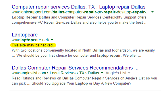 Regular website maintenance is a must to avoid thi.